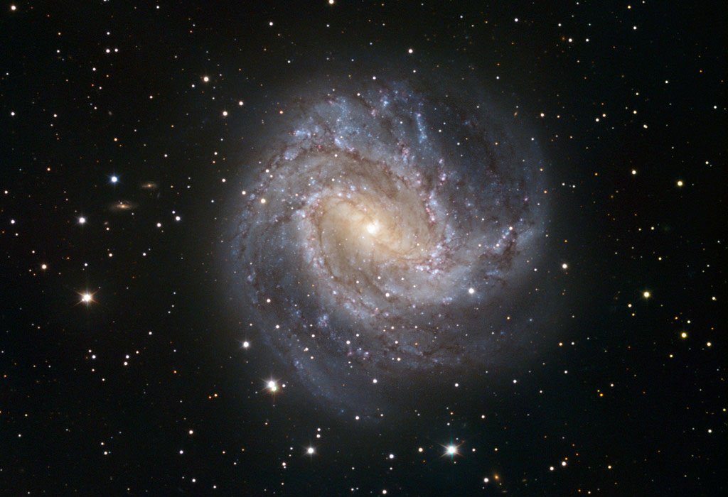 Photo de la galaxie spirale M 83 dans la constellation de l'Hydre
