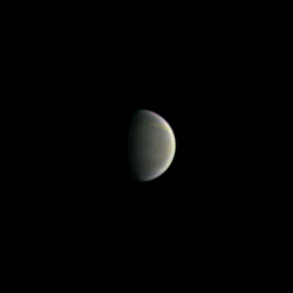Color photo of Venus taken with an amateur telescope.