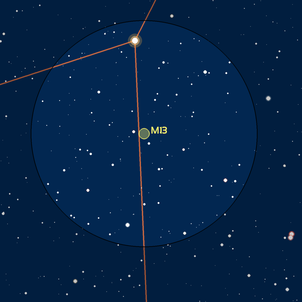 carte du ciel M13