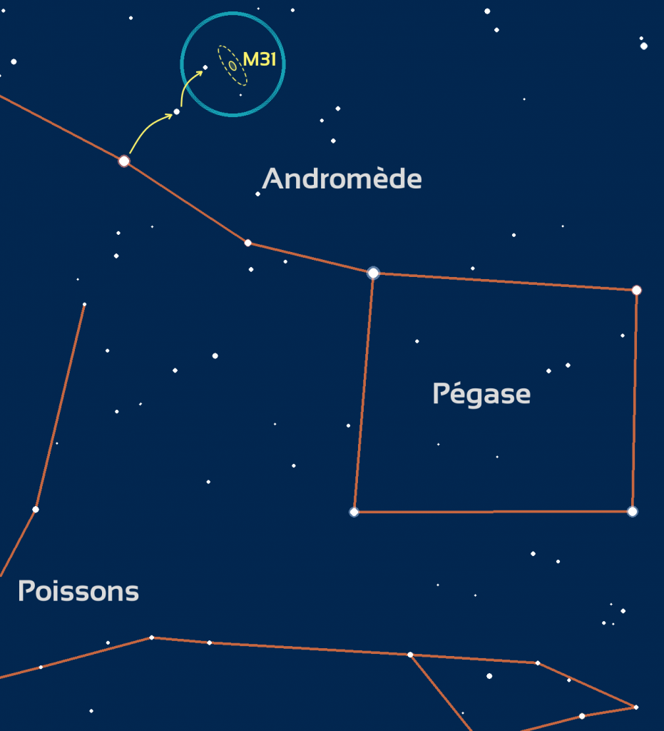 Carte du ciel constellation pégase