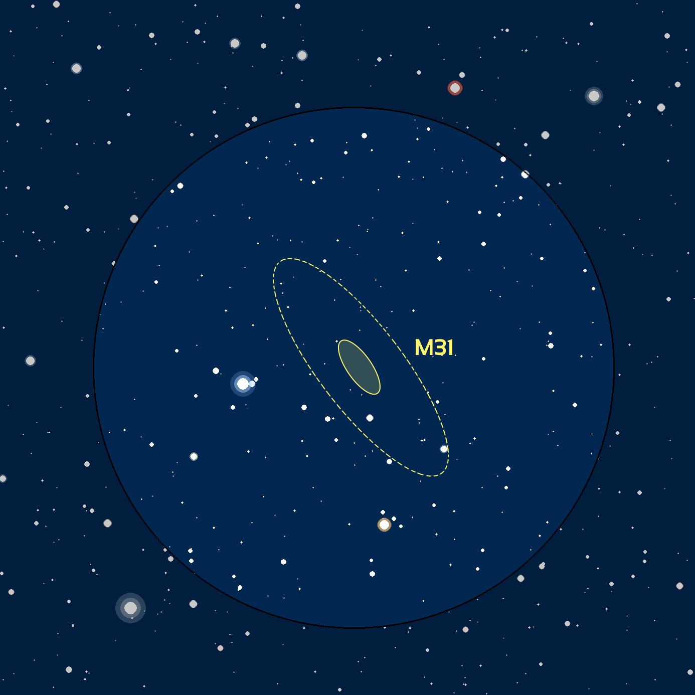 carte du ciel M31