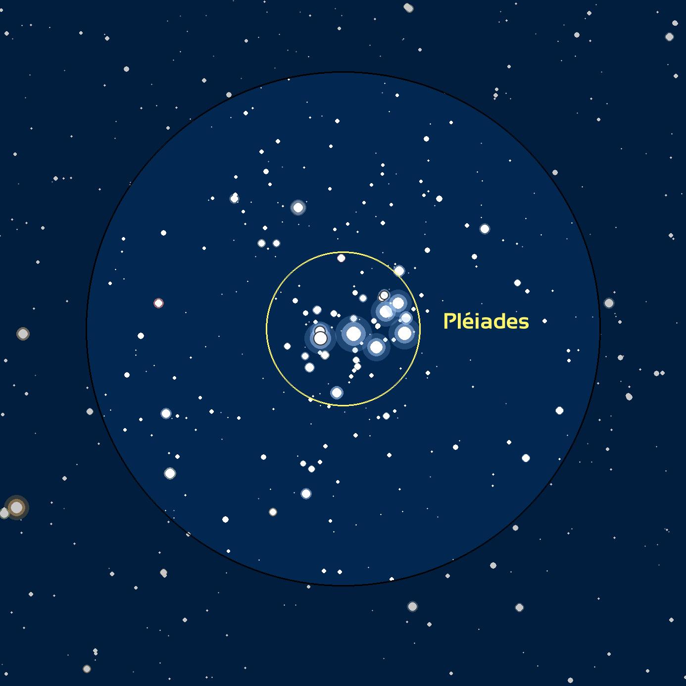 Carte du ciel M45