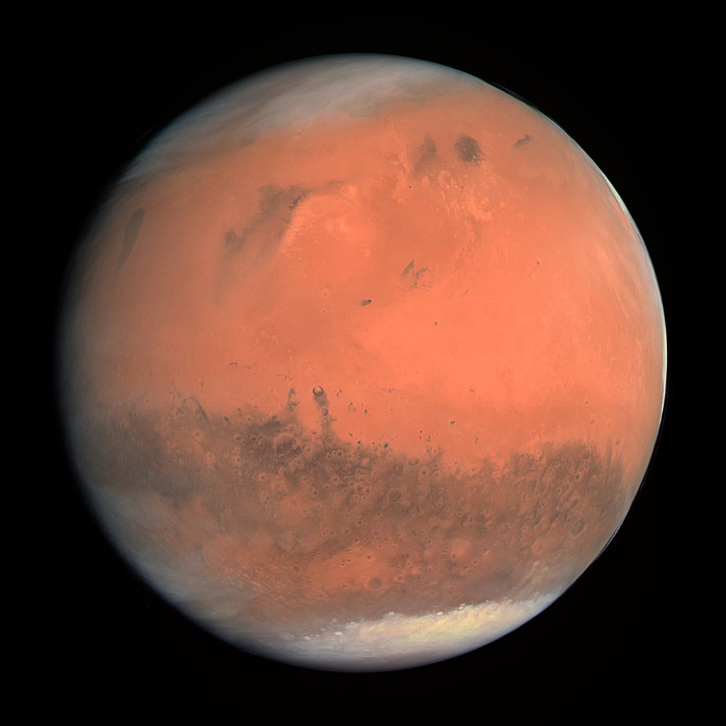 General view of the planet Mars