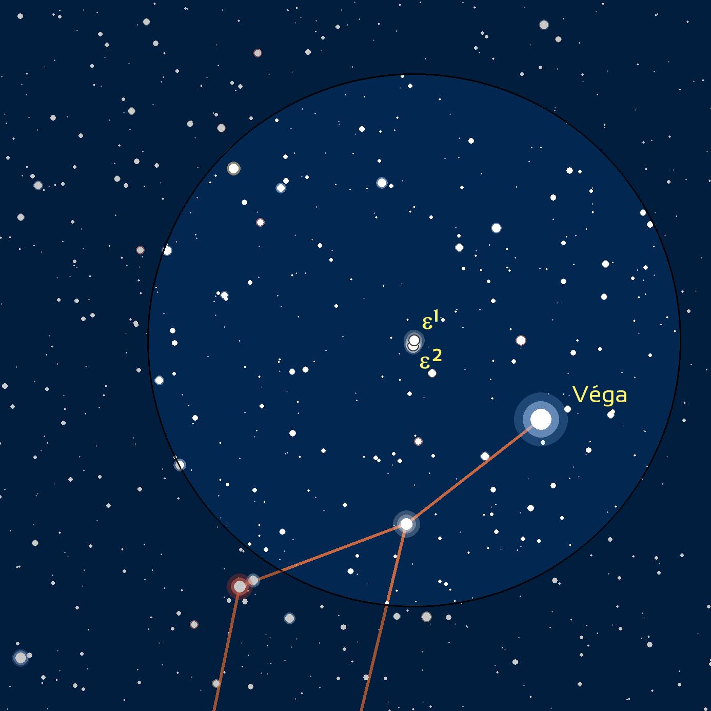 carte du ciel de Epsilon 1 et 2