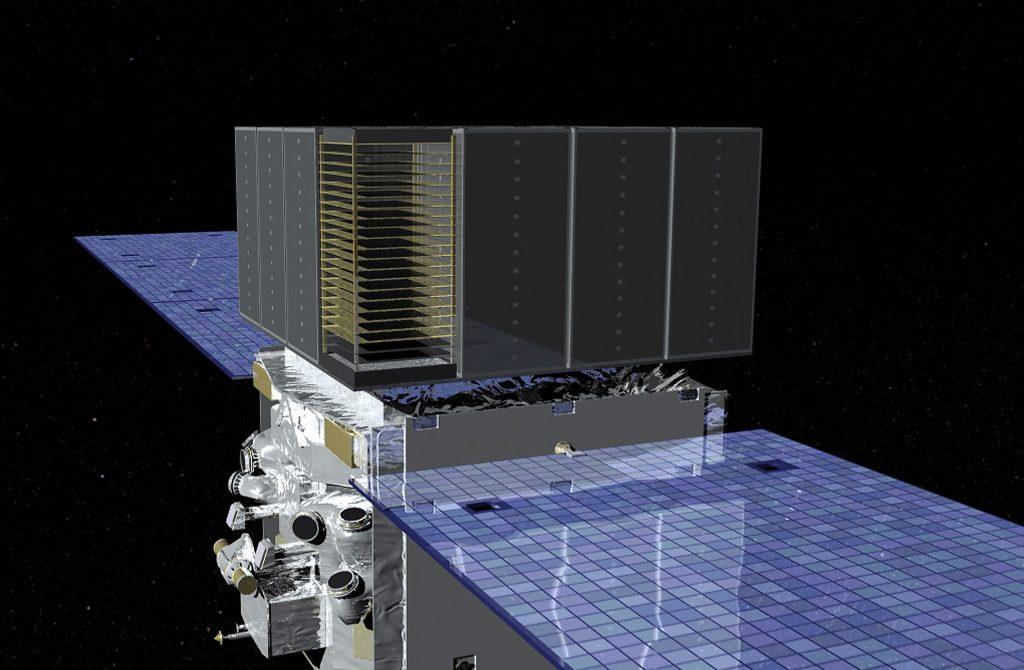 Dessin montrant le satellite Fermi