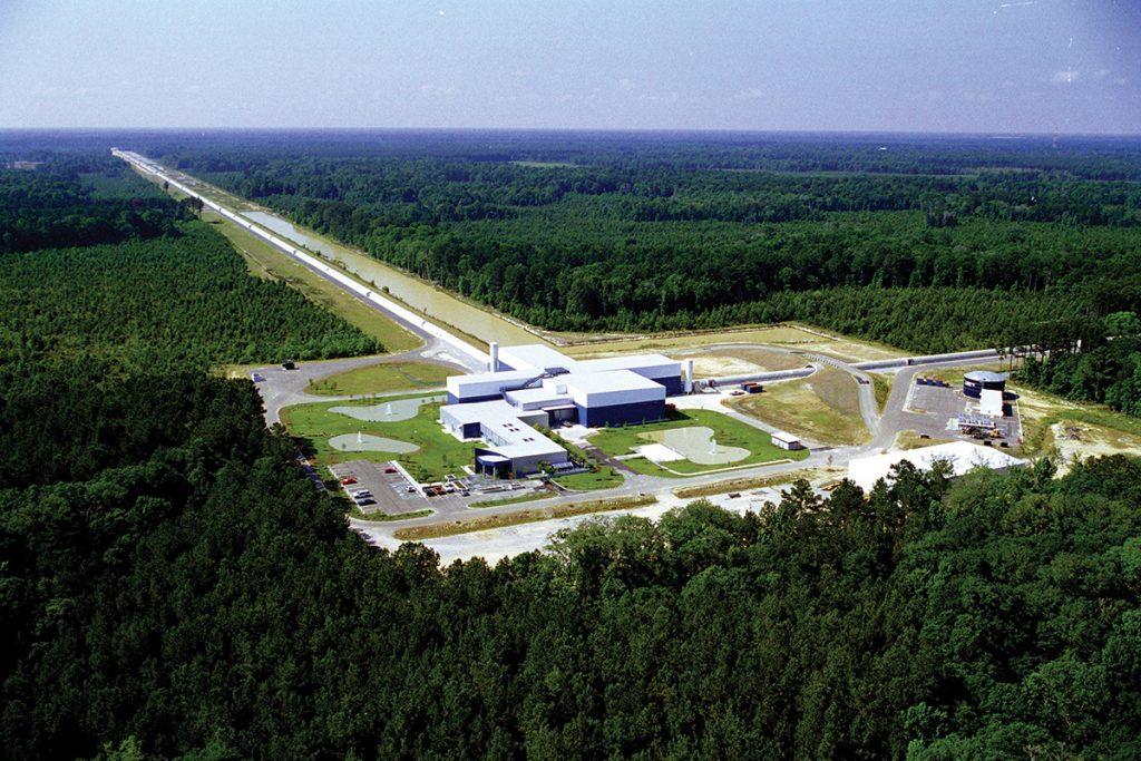 Photographie du site du détecteur LIGO