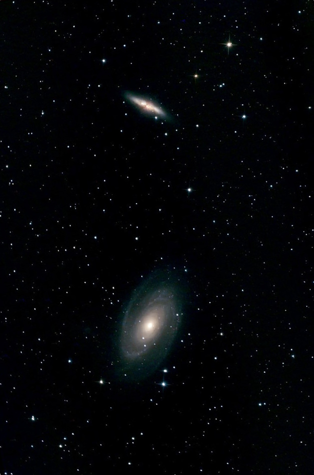 Photo des galaxies M81 et M82.