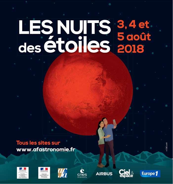Affiche des Nuits des étoiles 2018. Crédit AFA.