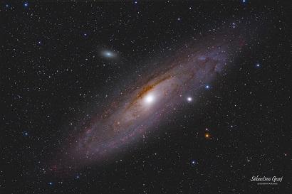 Galaxie M31 vue par l'astrophotographe Sébastien Gozé.