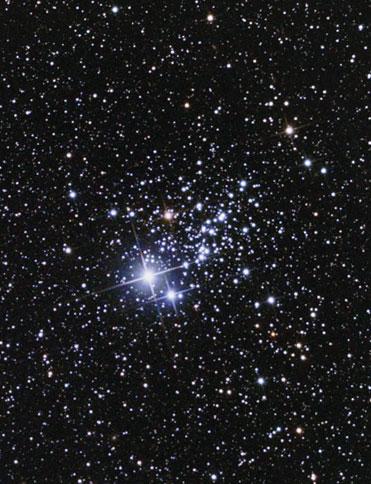 Photo de NGC457, l'amas de la Chouette dans Cassiopée