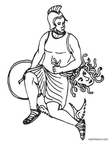 Persée, héros de la mythologie grecque.