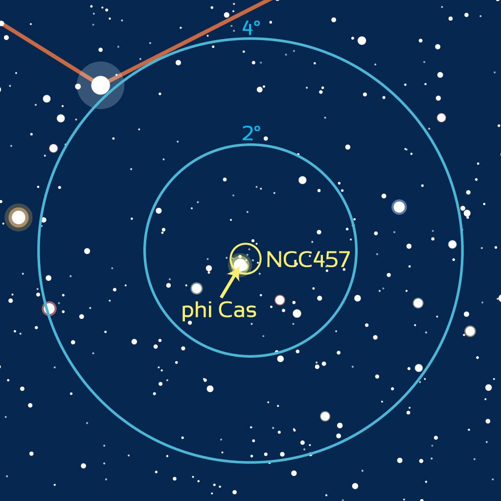 Carte de repérage de NGC457