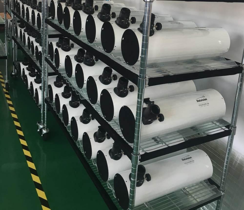 photo tubes optiques télescope en usine