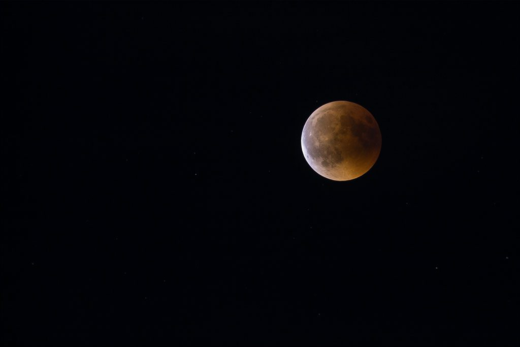 Photo de l'éclipse totale de Lune du 27 juillet 2018.