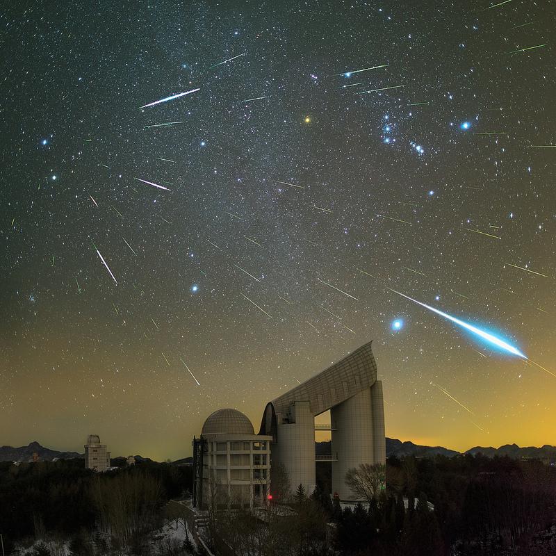 Géminides sur le télescope LAMOST (Chine)
