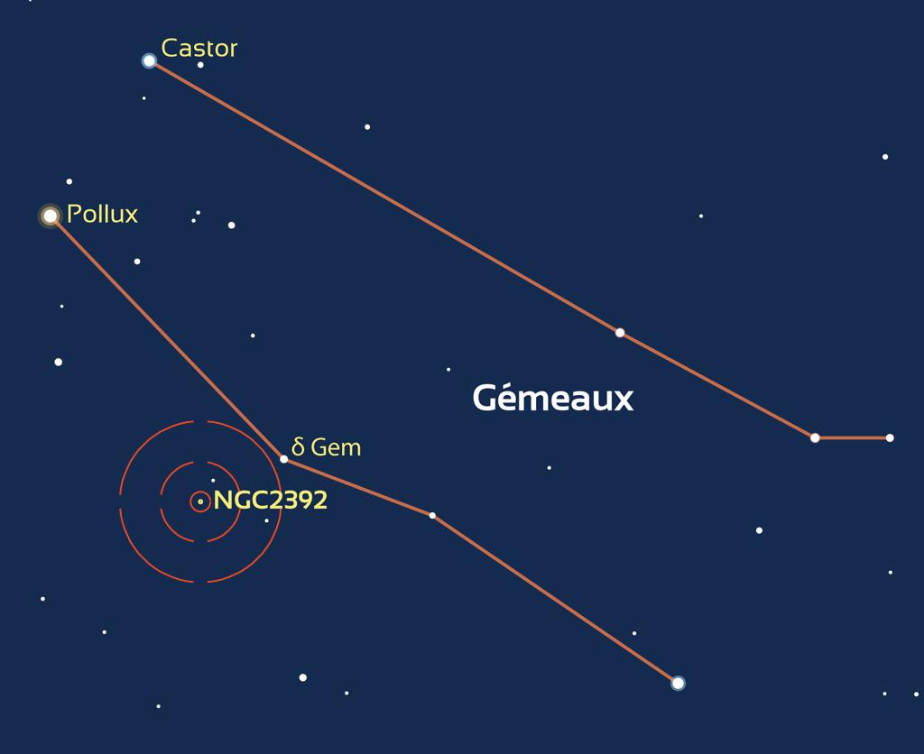 Carte de repérage de NGC2392