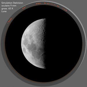 Simulation vision Lune STELESCOPE 130