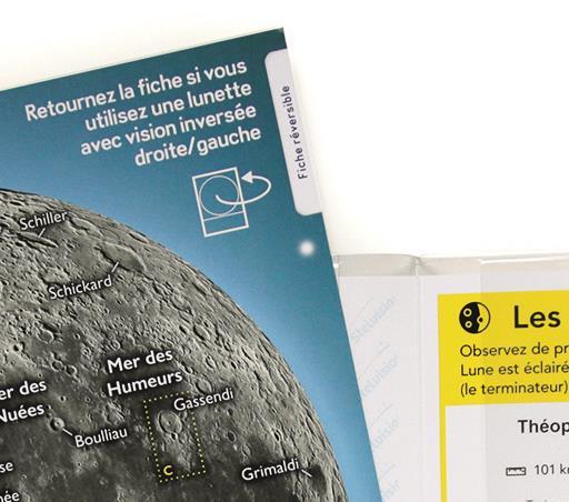 vue de la fiche réversible de la Carte de la Lune