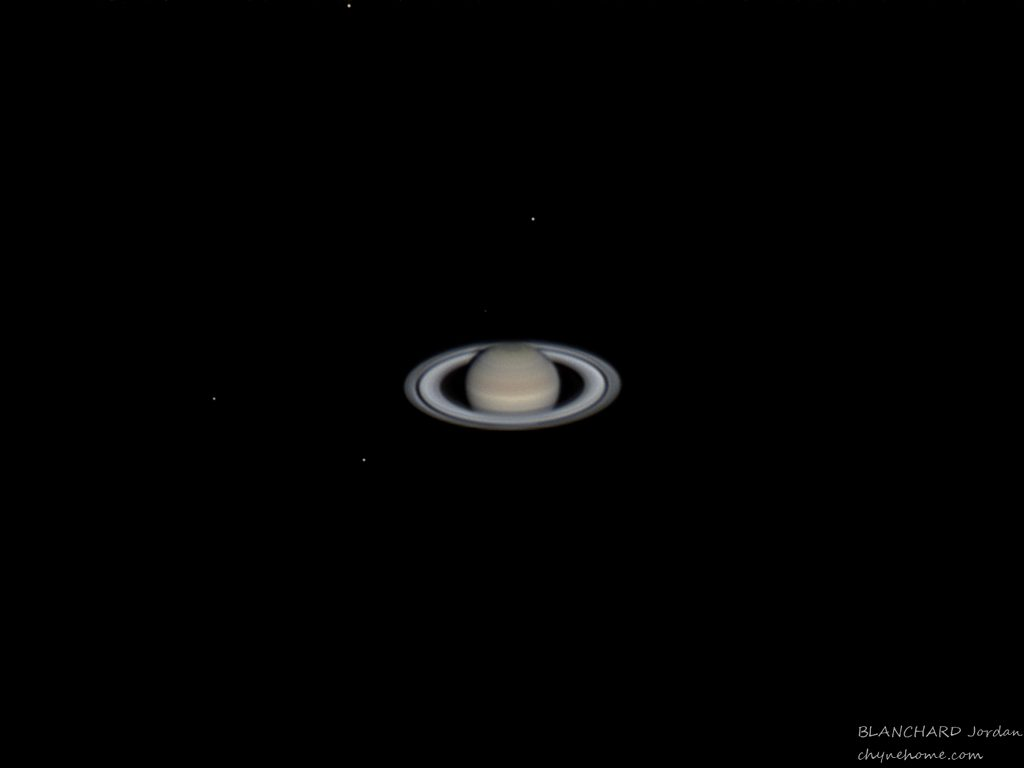 Photo de la planète Saturne prise par Jordan Blanchard.