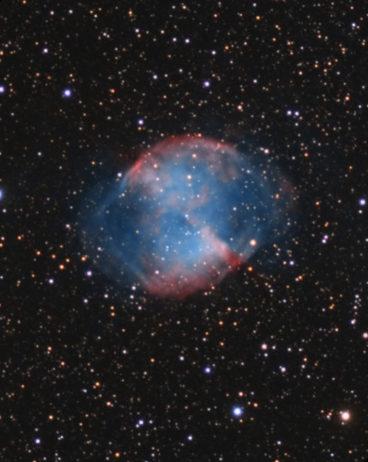 photo M27 nébuleuse de Dubell ou de l'Haltère