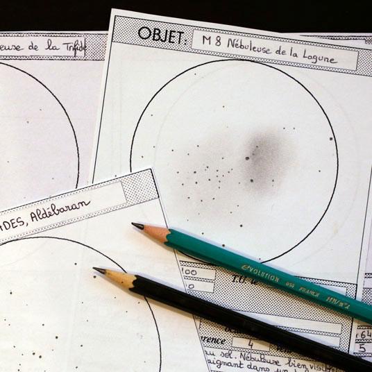Ressources sur le dessin astronomique