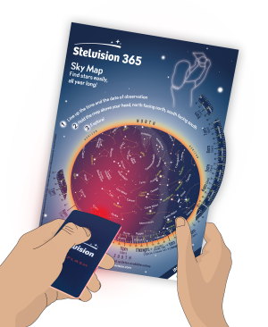 Stelvision 365 Sky Map with optionnal flashlight