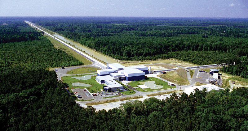 Le détecteur LIGO à Livingston en Louisiane (USA). Crédit : LIGO/Caltech