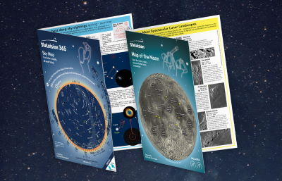 Illustration-Stelvision maps for stargazers