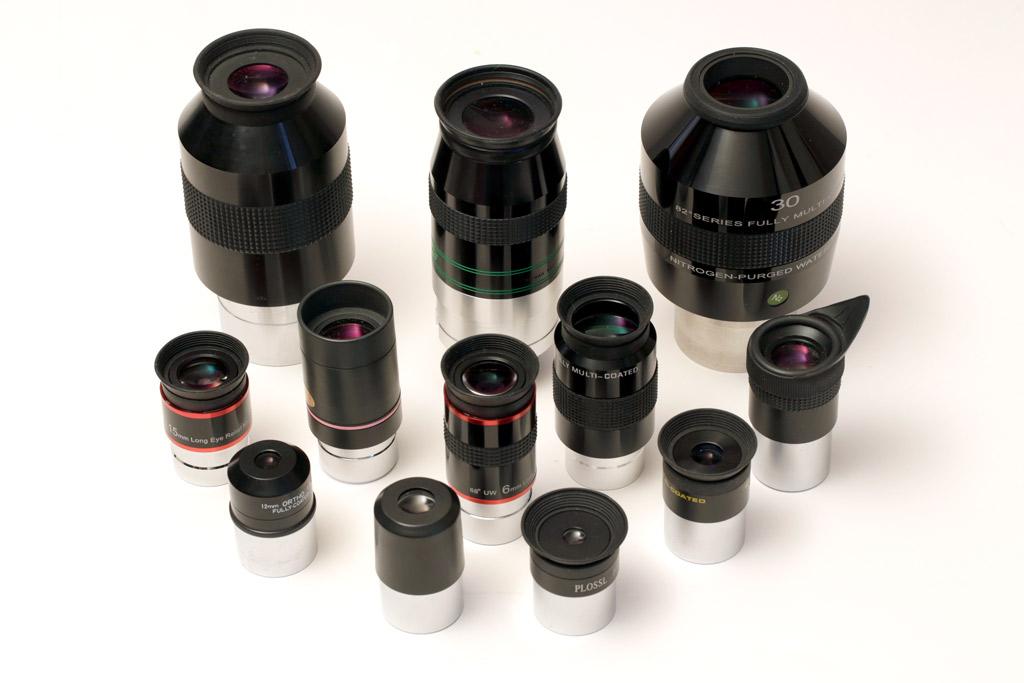 photo d'oculaires variés