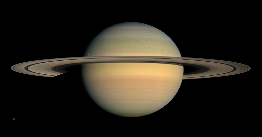 Saturne vue par la sonde Cassini. Crédit : NASA/JPL/Space Science Institute
