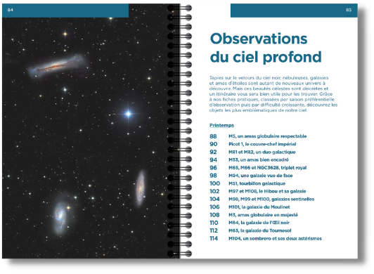 Sommaire Observations du ciel profond, extrait du livre Le Ciel au télescope