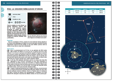Double page extraite du livre Le Ciel au télescope, M42 La grande nébuleuse d'Orion