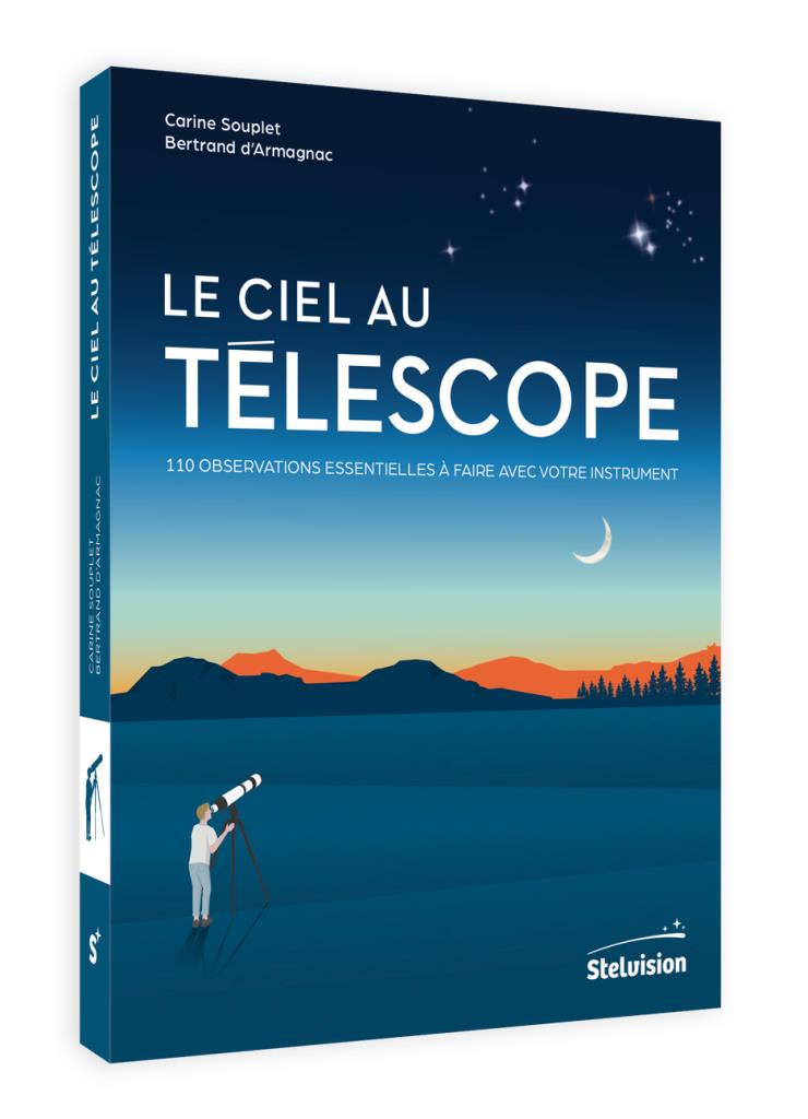 visuel de couverture en perspective du livre Le Ciel au télescope