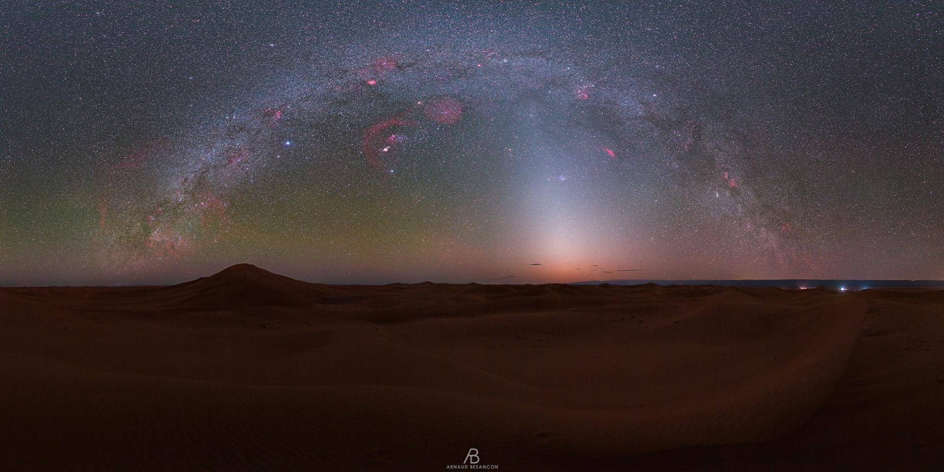 La lumière zodiacale du Sahara
