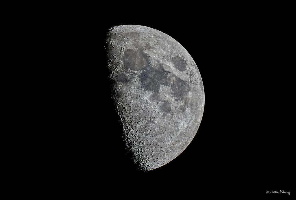 Photo Lune, 1 jour après le 1er quartier, le 8/08/2019