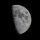 Lune, 1 jour après le 1er quartier, le 8/08/2019