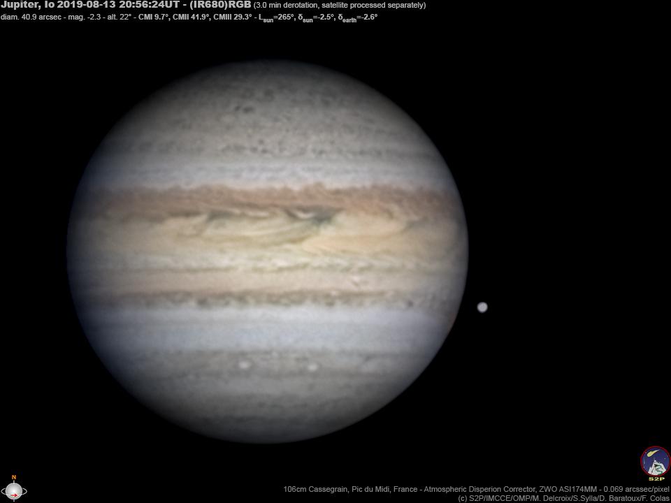 Jupiter & Io au télescope de 1m du Pic du Mid