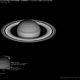 Saturne, Encelade, Rhéa, Tethys et Mimas au télescope de 1m du Pic du Midi