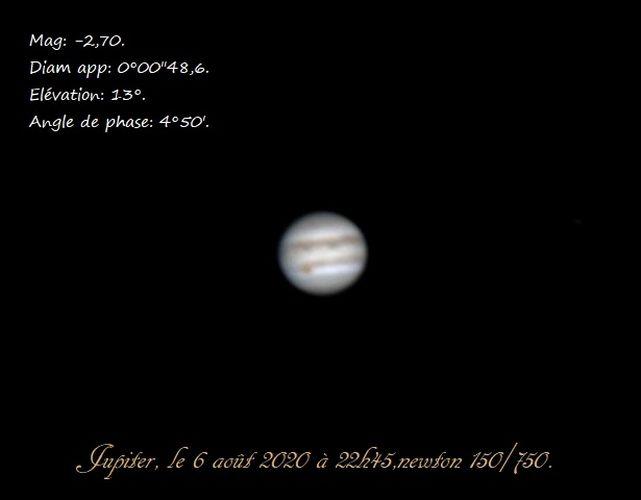 Jupiter d'été.