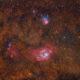 Les nébuleuses de la lagune et trifide - M8,M20