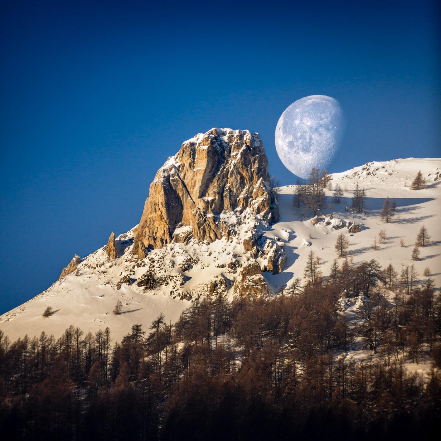 Quand la Lune rencontre la Dent de Ratier