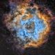 NGC2237 la Nébuleuse de la Rosette en SHO
