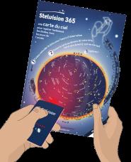 Carte du ciel étoilé en temps réel - Stelvision Astronomie