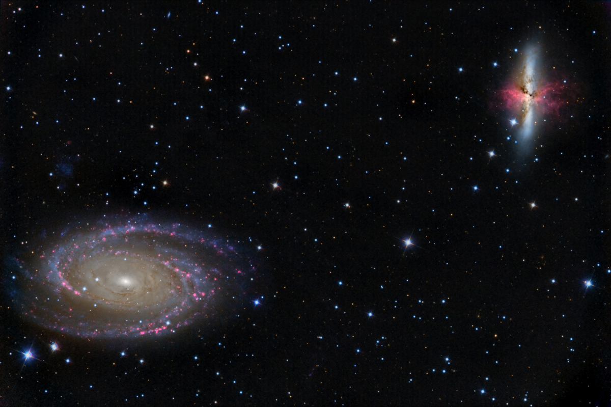 Galaxies Messier 81 & 82 dans la Grande Ourse