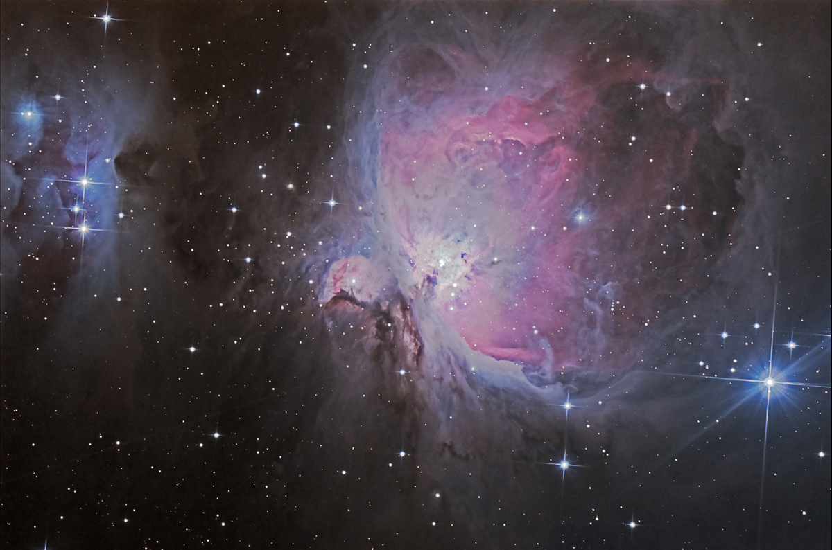 M42, La nébuleuse d'Orion dans la constellation d'Orion.