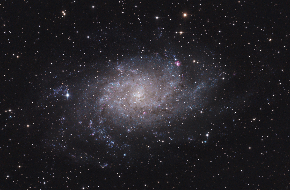 M33 la galaxie du triangle, dans la constellation du Triangle.
