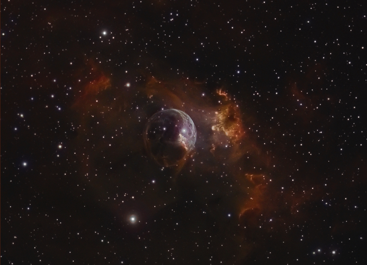 NGC7635  Bubble nebula  Constellation de Cassiopée